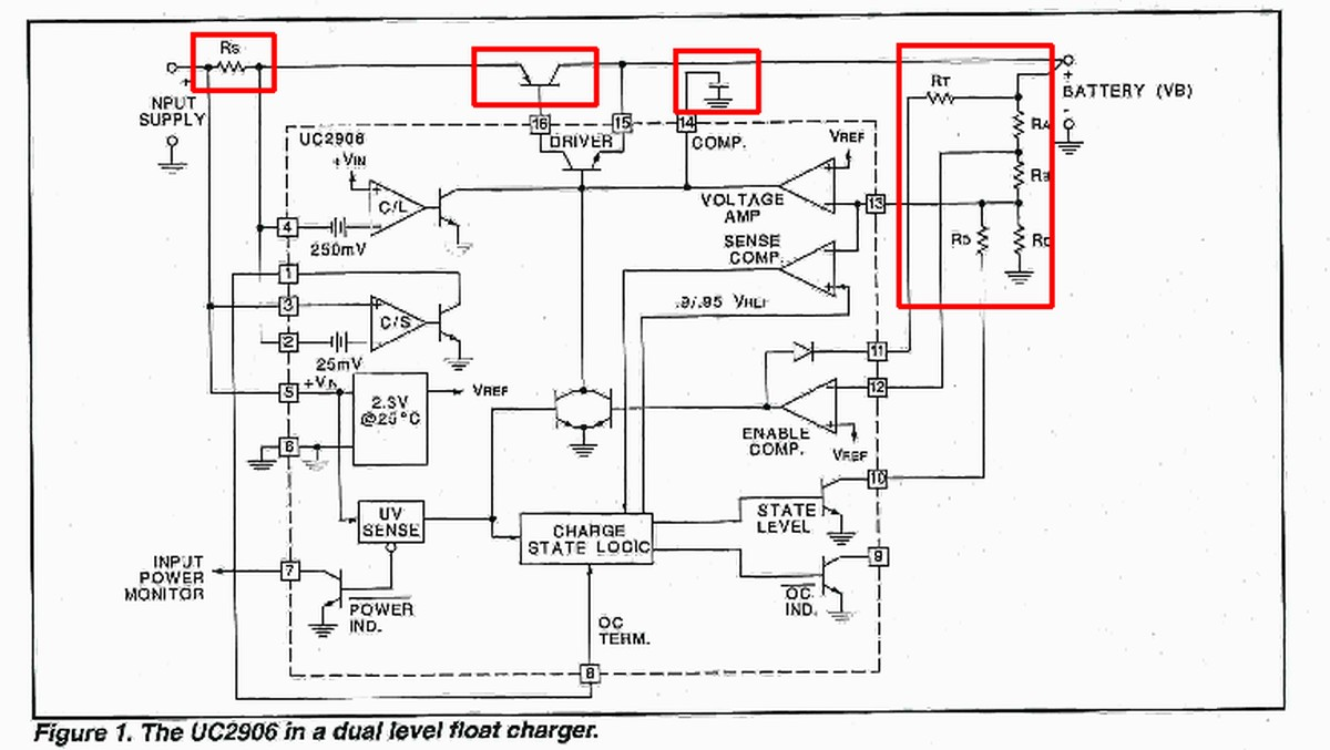 [WRG-2262] 12v Battery Charger Circuit With Overcharge