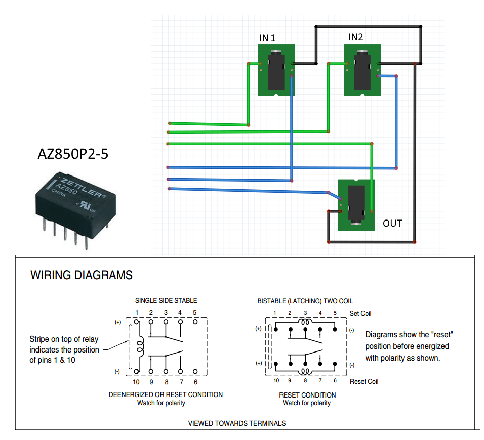 medium resolution of arduino switching left right audio with a dpdt relay electrical dpdt switch wiring diagram audio