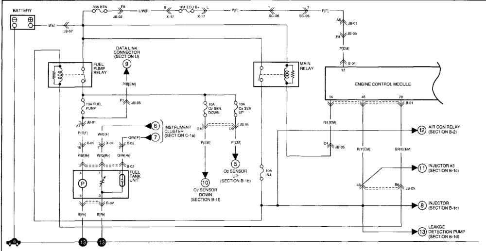 medium resolution of 2002 kia spectra 1 8 no power to the control side of my fuel pump 02 kia spectra fuel pump wiring