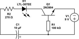 Led Flashing Circuit Flashing Lamp Circuit Wiring Diagram