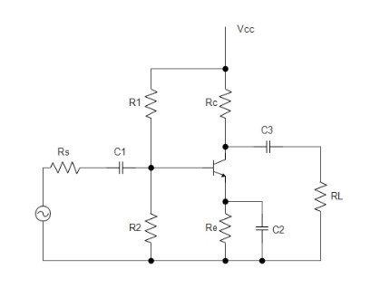 How to size coupling and bypass capacitor for simple BJT