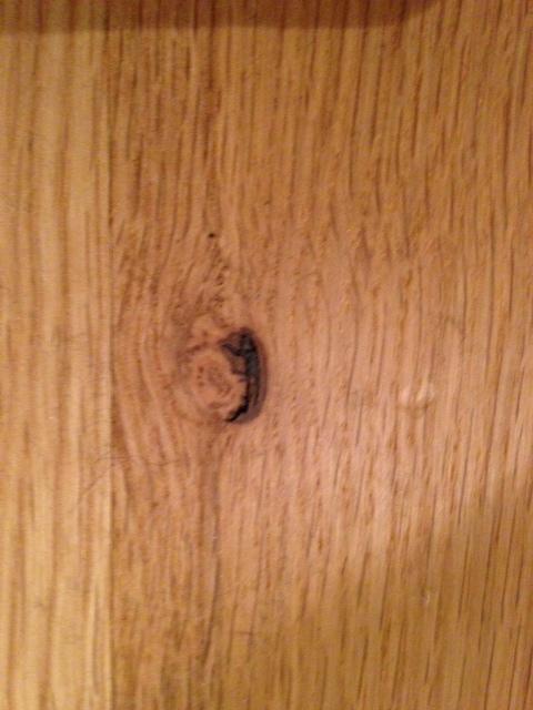 wood  Black Holes Appearing in Oak Floor  Home