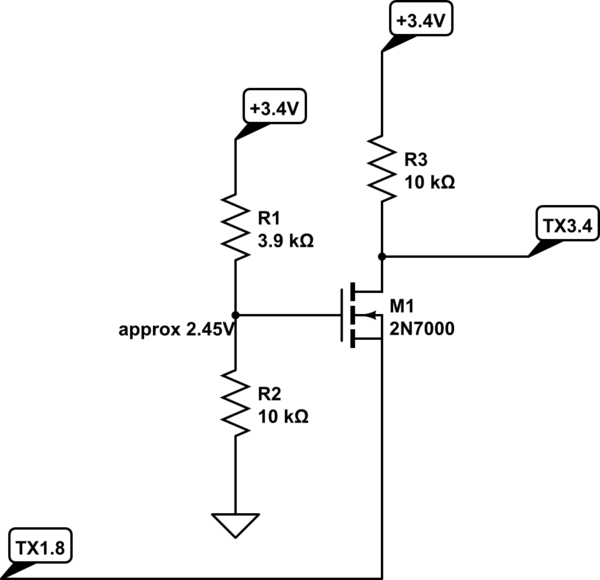 2N7000 level shifter doesn't work under a certain voltage