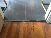 flooring - How do I transition from a wood floor to tile ...