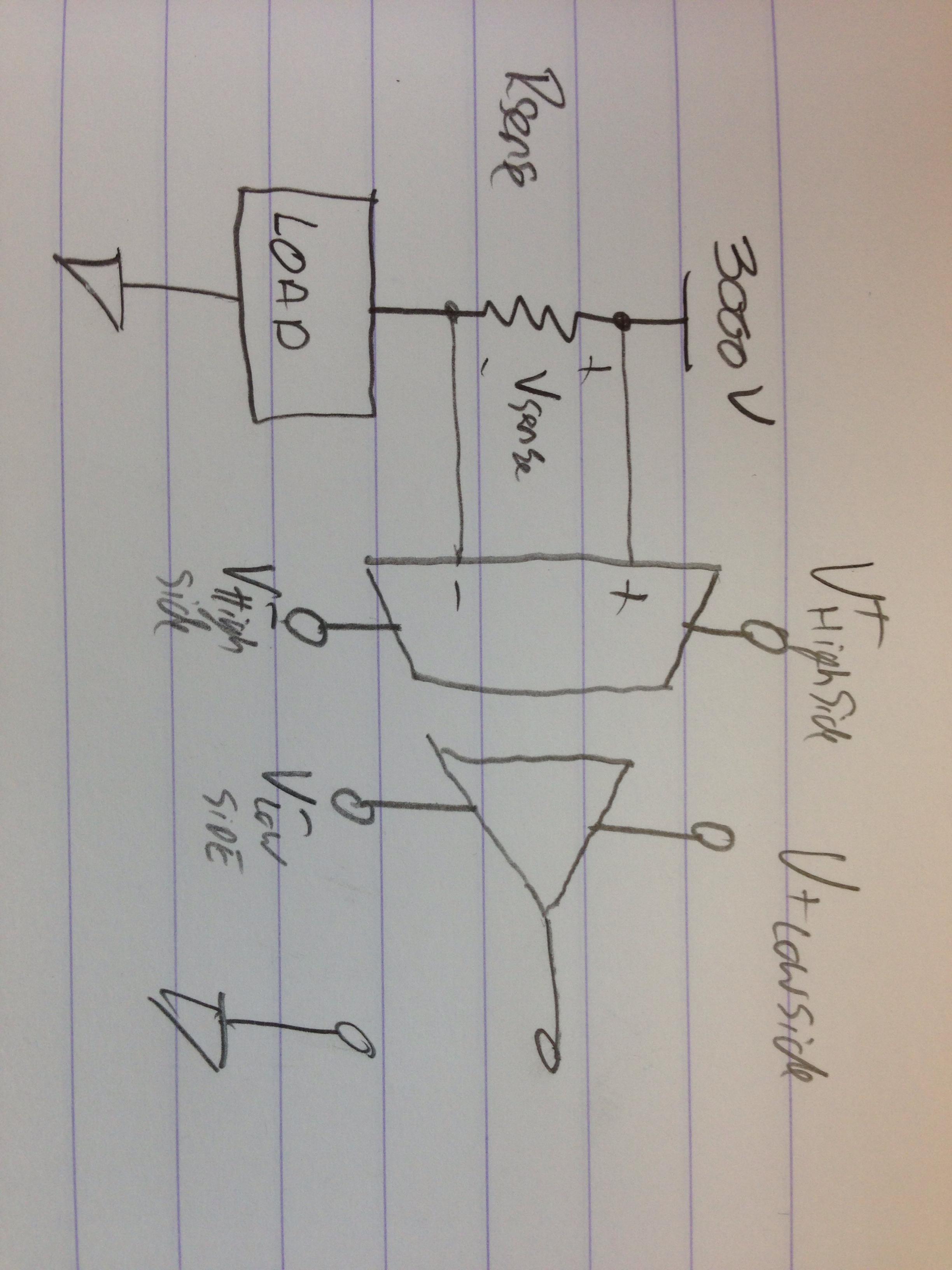 resistor circuit diagram kicker l5 12 wiring amplifier - powering an amc1200 isolation amp electrical engineering stack exchange