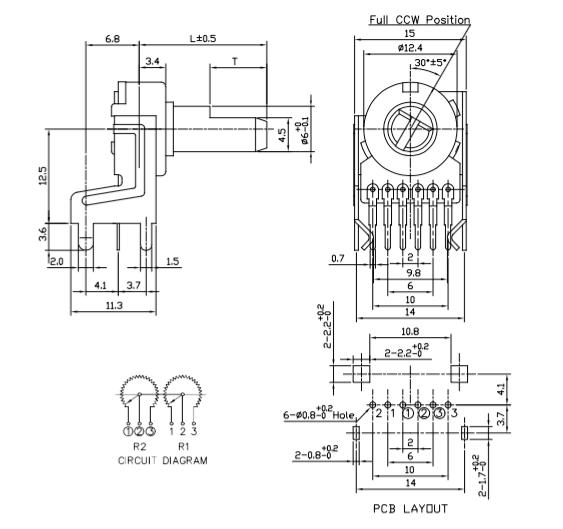 volume potentiometer wiring