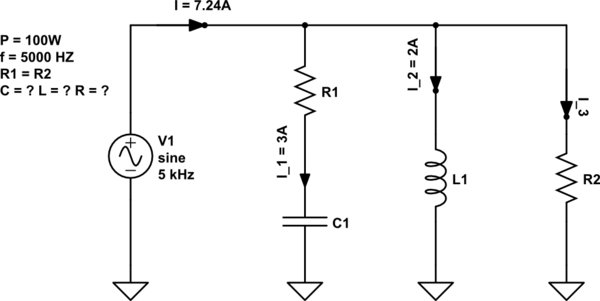 Need help solving a problem with ac resonance circuits