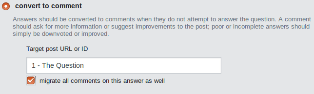 Can comments be moved from an answer to the question? - Meta Stack Exchange