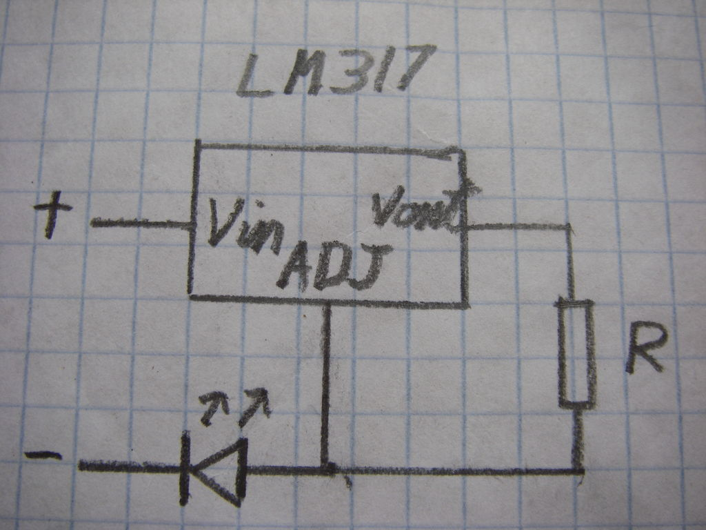 Lm317 Circuit For Led Driver