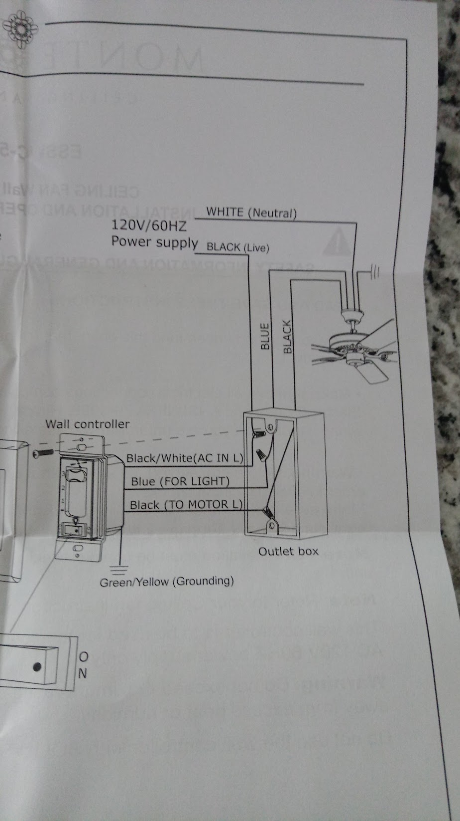 medium resolution of ceiling wall instr switch
