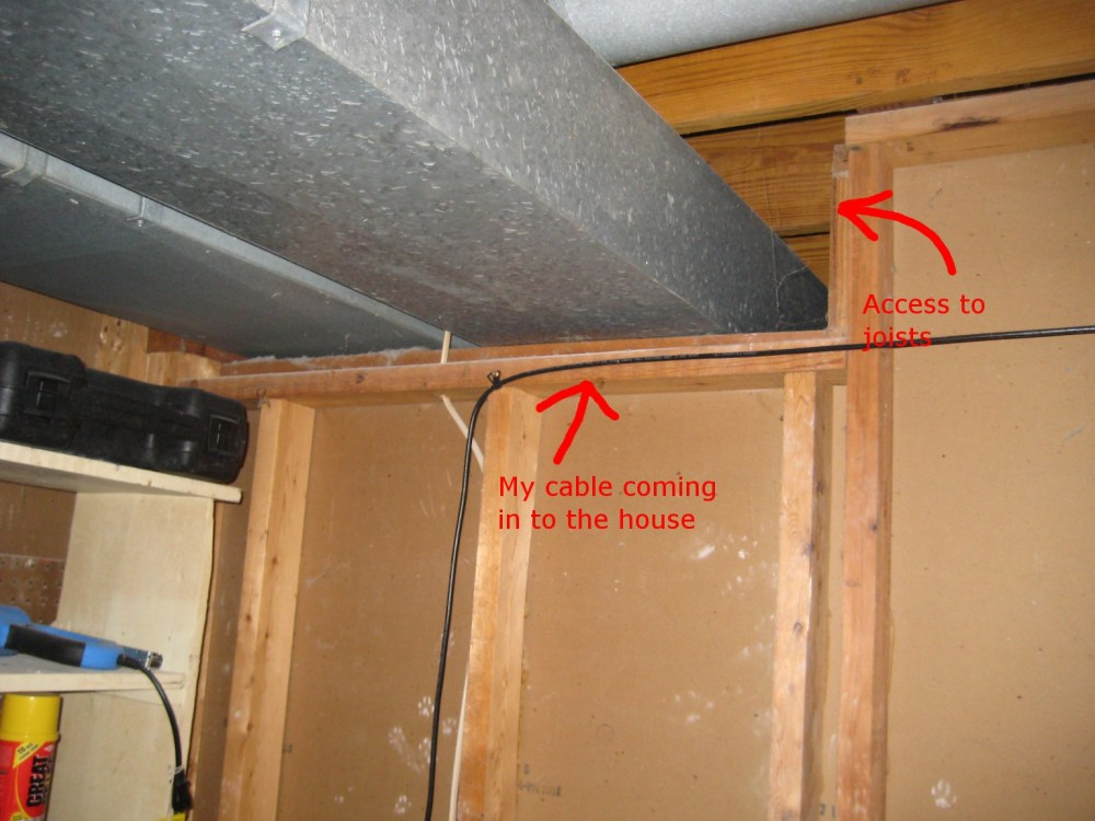 medium resolution of access to cable and joists