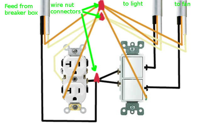 wiring diagram for bathroom fan and light home electrical diagrams pdf how can i rewire my receptacle enter image description here