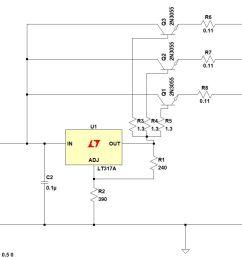 enter image description here i have chosen three npn transistors  [ 1381 x 883 Pixel ]