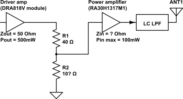 How to find input impedance of RA30H1317M1 RF power