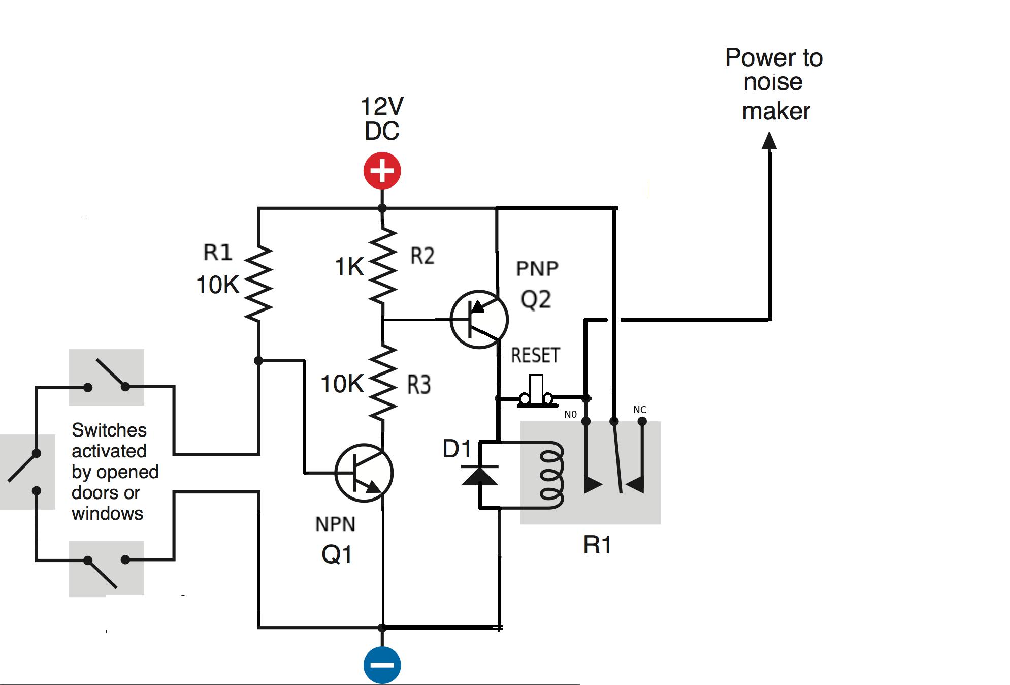 relay switch breadboard