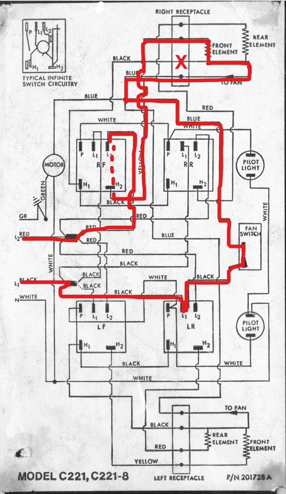medium resolution of c221 wiring diagram with current flow illustrated