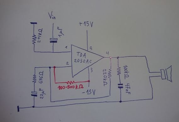 Tda2030 8w Audio Amplifier Circuit Diagram