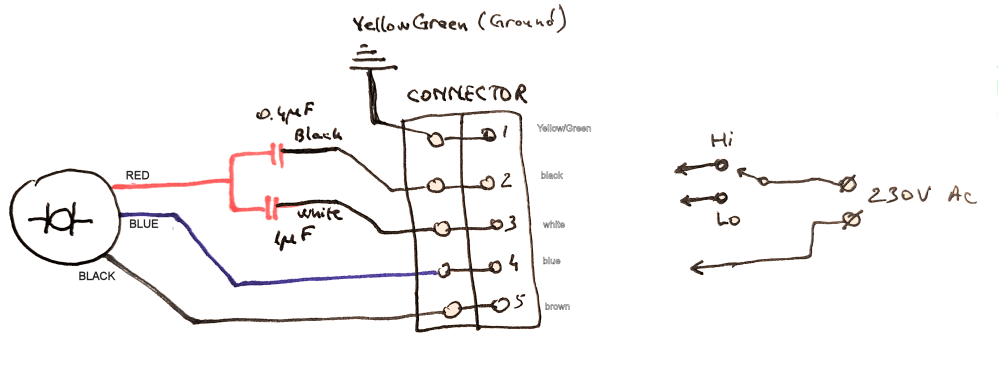 medium resolution of three wire connection diagram wiring diagram expert trailer connector wire diagram capacitor how to connect this