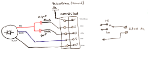 capacitor  How to connect this 3 wire AC motor?  Electrical Engineering Stack Exchange