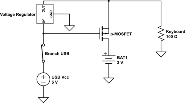 automatic switching for battery 8211 usb power connection