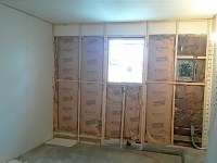 concrete - How do I drywall over a partial cement wall ...