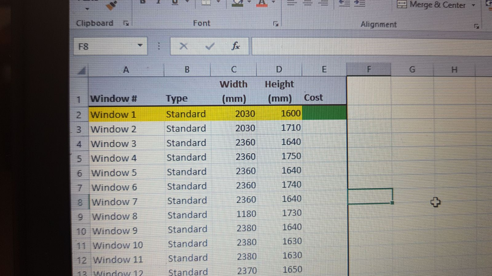 Comparing A List To A Matrix To Get The Value In Ms Excel