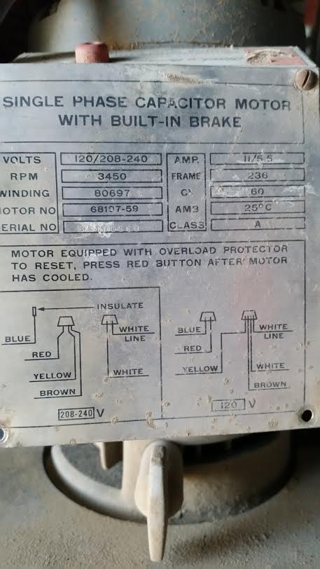 220 volt wiring diagram deutz f3l1011 alternator - how do i connect this saw's motor to volts? home improvement stack exchange