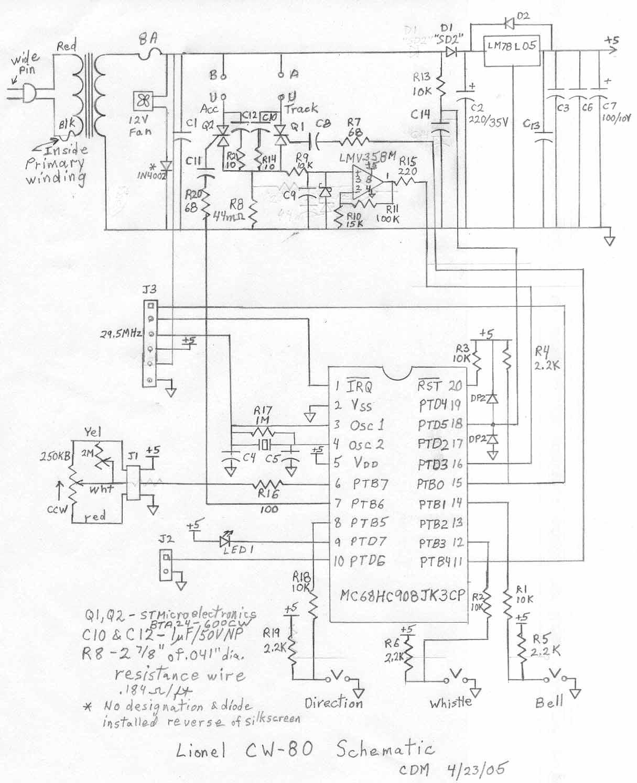 lionel trains wiring schematics