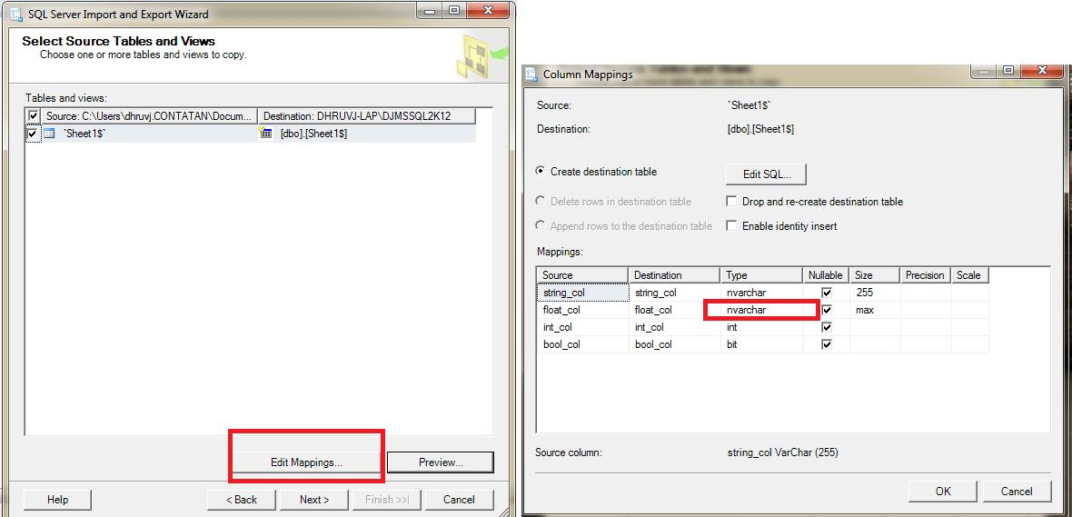 SQL Server Management Studio SSMS Convert all columns from float to nvarchar - Stack Overflow