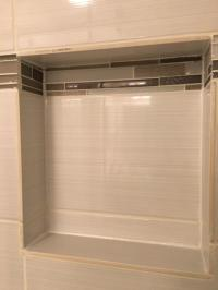 Shower niche tile unfinished edge? - Home Improvement ...