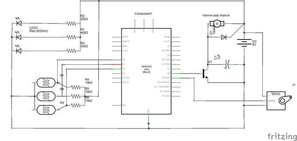 medium resolution of  schematic line following robot