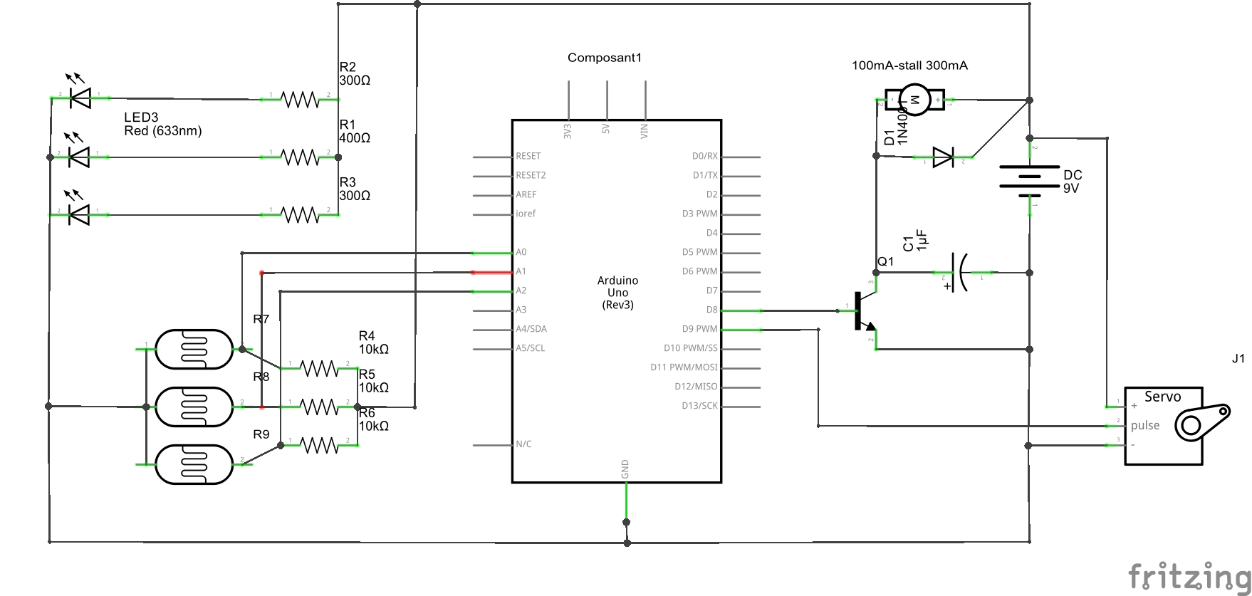 hight resolution of  schematic line following robot