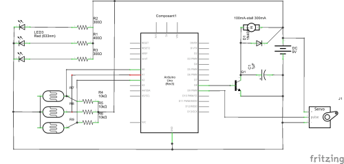 small resolution of  schematic line following robot