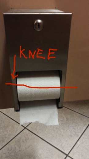 physical  Why do public restrooms place the paper holders