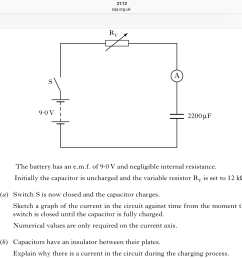 explaining why there is current in a circuit with a capacitor whilst the capacitor is charging [ 2048 x 1536 Pixel ]
