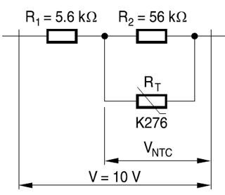How to measure temperature using a NTC thermistor