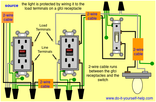 3 wire diagram for switch to gfci  2000 ford f250 wiring