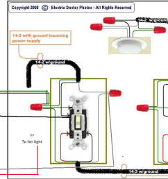 electrical power a ceiling fan motor and light from the supply4 way switch wiring diagram fan [ 1443 x 612 Pixel ]