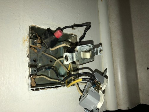 small resolution of electrical trying to replace a standard outlet with a gfci but electrical wiring in the home replaced switch outlet but outlet