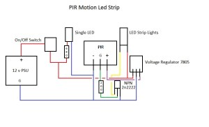 transistors  12v LED Strip Lights controlled by PIR *Want to add LDR to project*  Electrical
