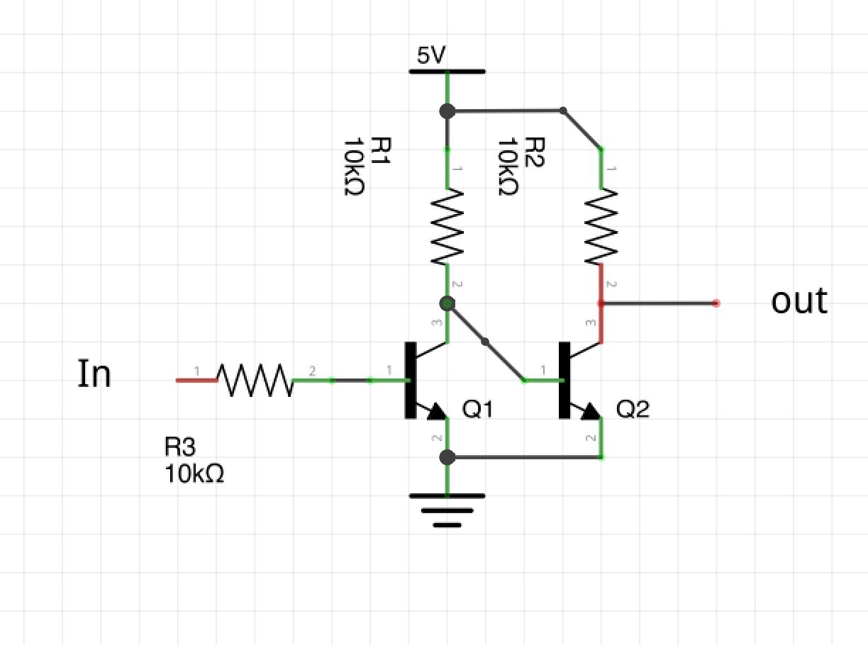 hight resolution of npn transistor level shifter