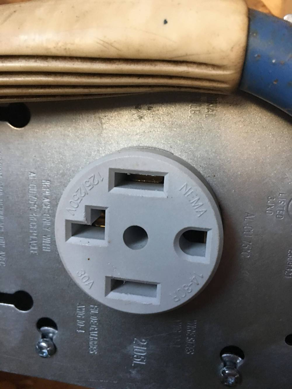 medium resolution of want to convert a garage 4 wire receptacle to standard 3 prong receptacle