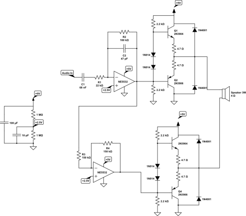 small resolution of noisy btl audio amplifier circuit electrical engineering stack circuit schematic audio power amplifier circuit technology co ltd