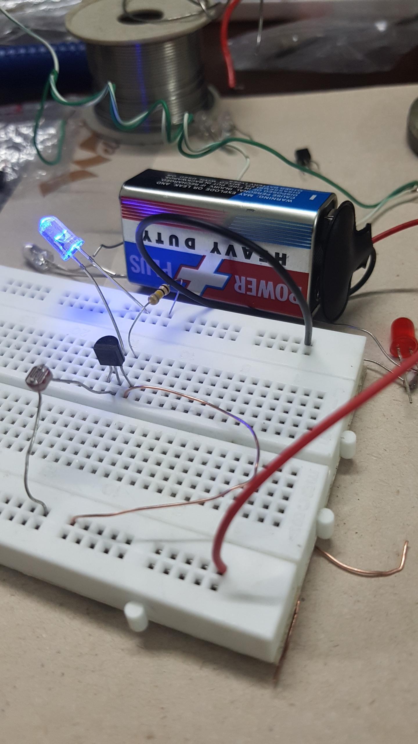 Circuit Diagram For Color Distinguished Using Ldr Or Color Sensor