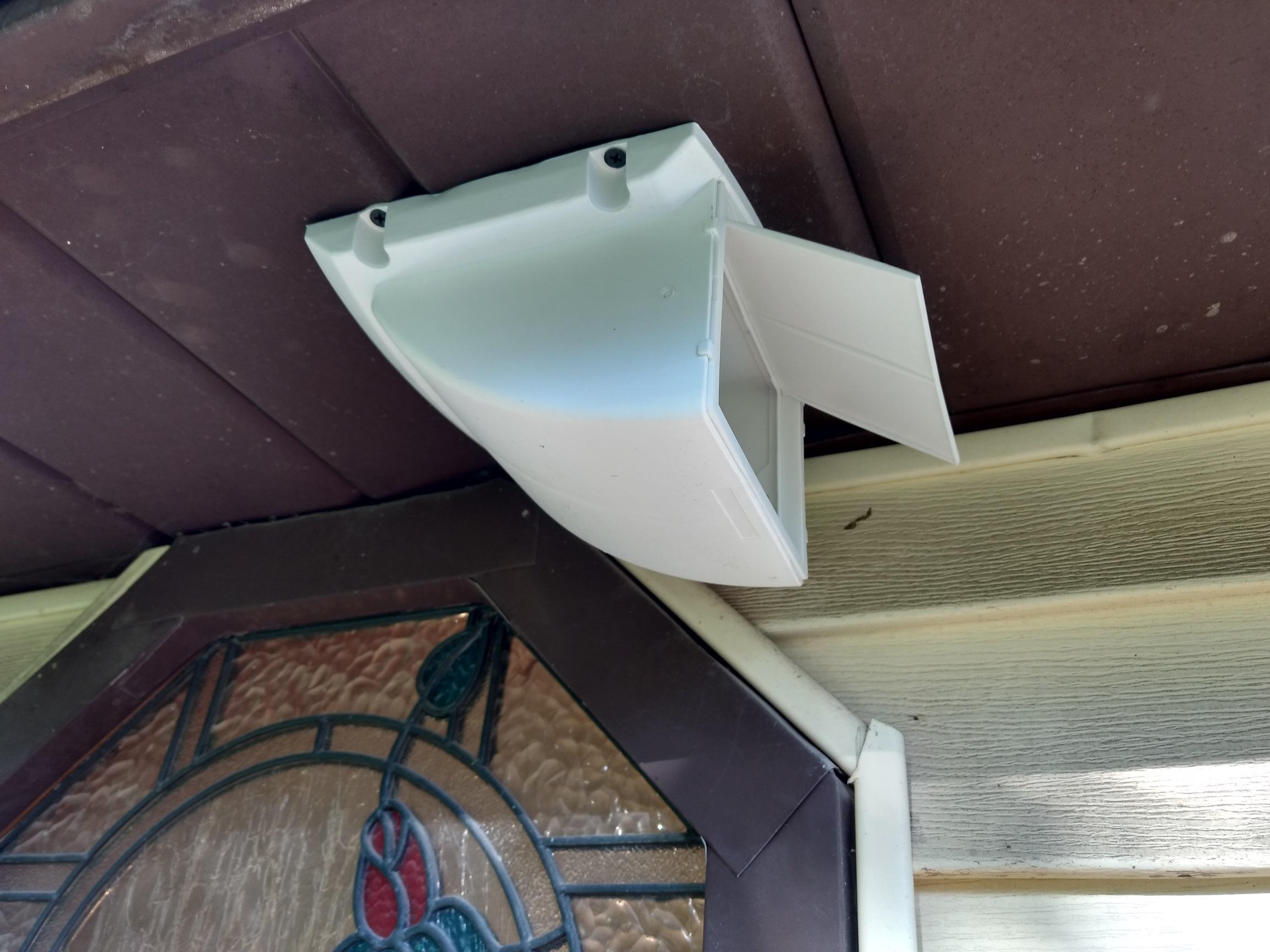 soffit vent for a bathroom fan