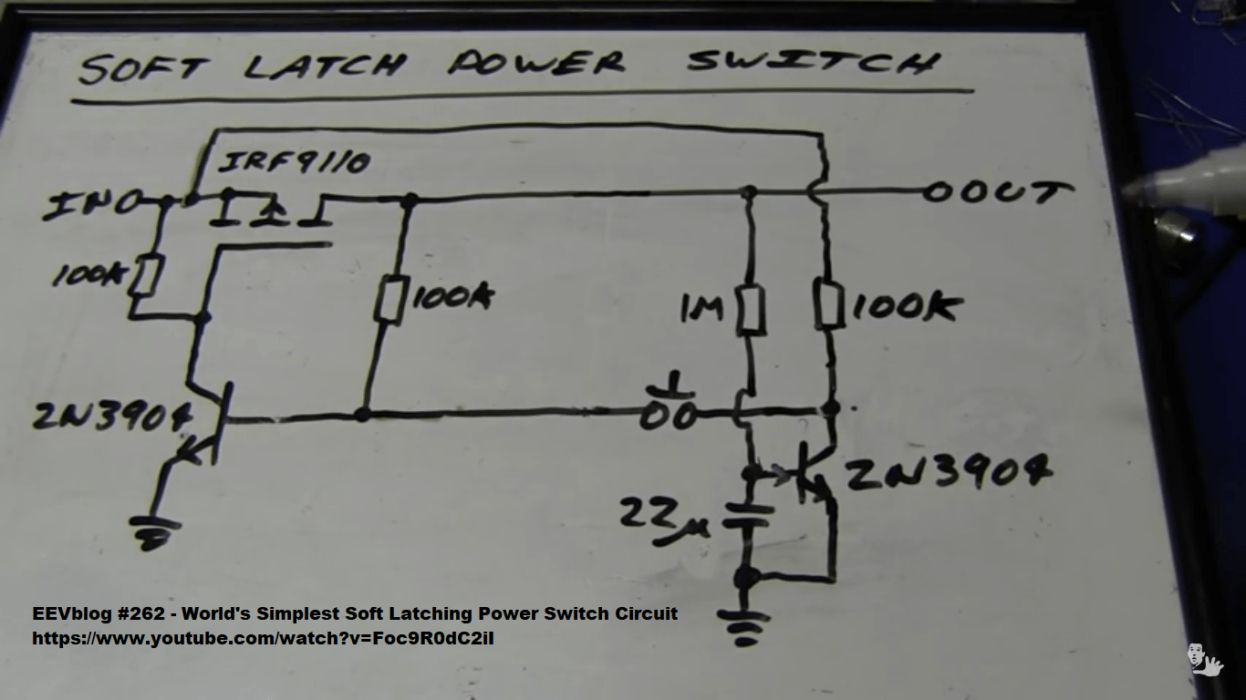 Soft Latching Power Switch On Off Circuit