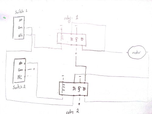 small resolution of initial wiring diagram switches relay