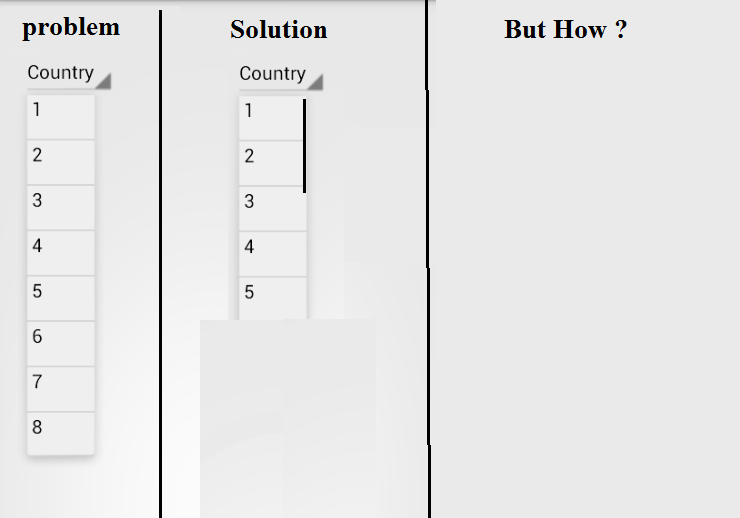 How to limit the height of Spinner drop down view in