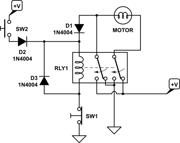 6 pin dpdt switch wiring diagram 1996 civic switches - change direction of 12v dc motor rotation using relay electrical engineering stack ...