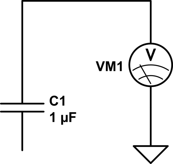 Why can't we read voltage between just one pin of a loaded